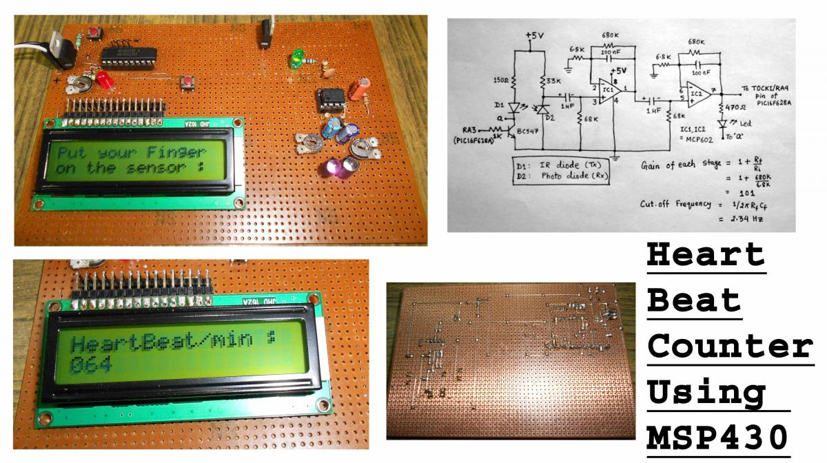 Heart Beat Counter On Lcd Msp430g2553 Projects 43oh Heartbeatmonitorcircuitjpg An Error Occurred