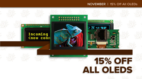 NewHaven displays 15% off on OLED boards - Embedded Systems/Test