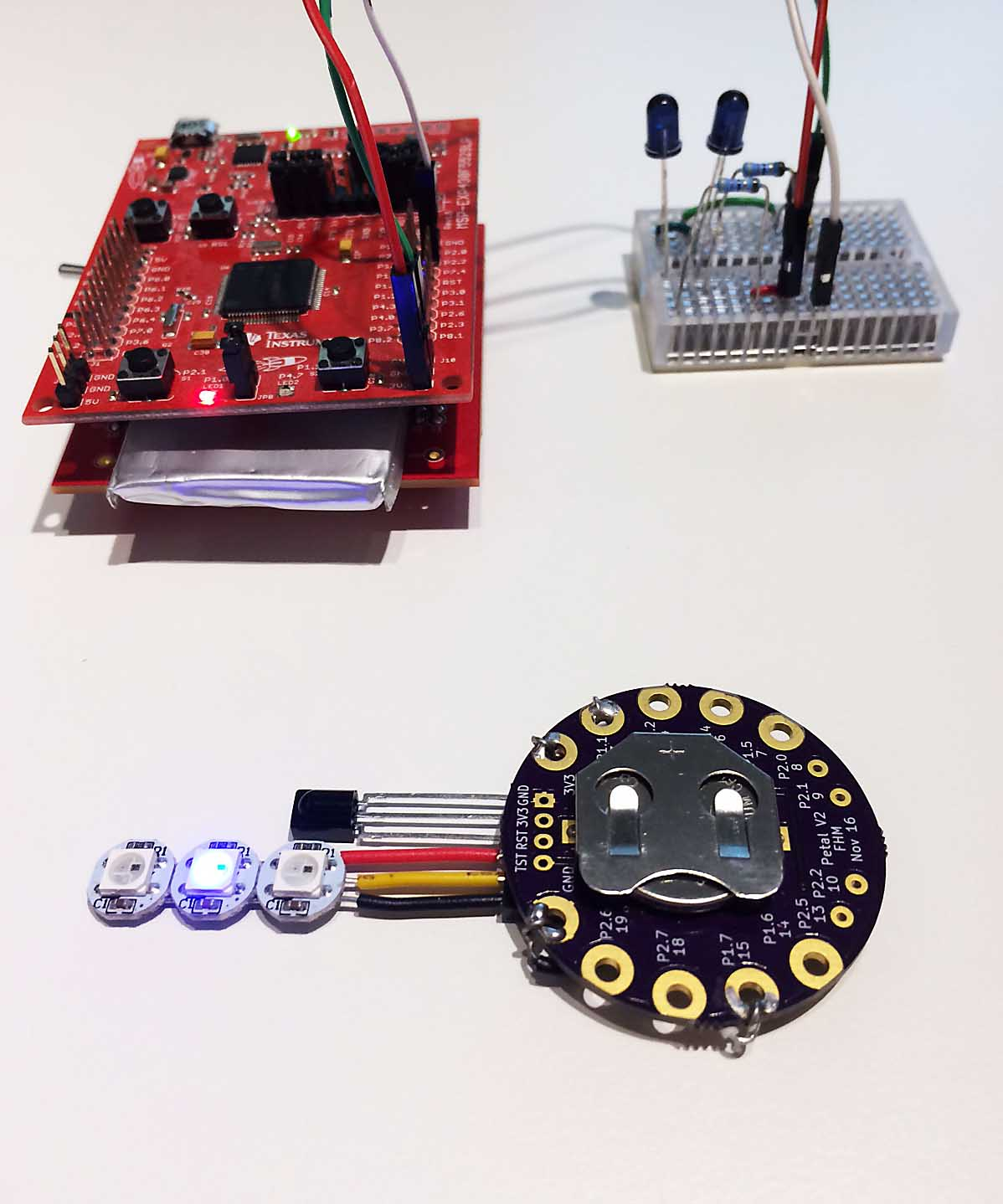 MSP430 Infrared Controlled Wearable - Projects - 43oh